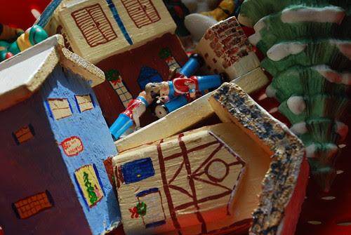 Natural disaster hits the Christmas village