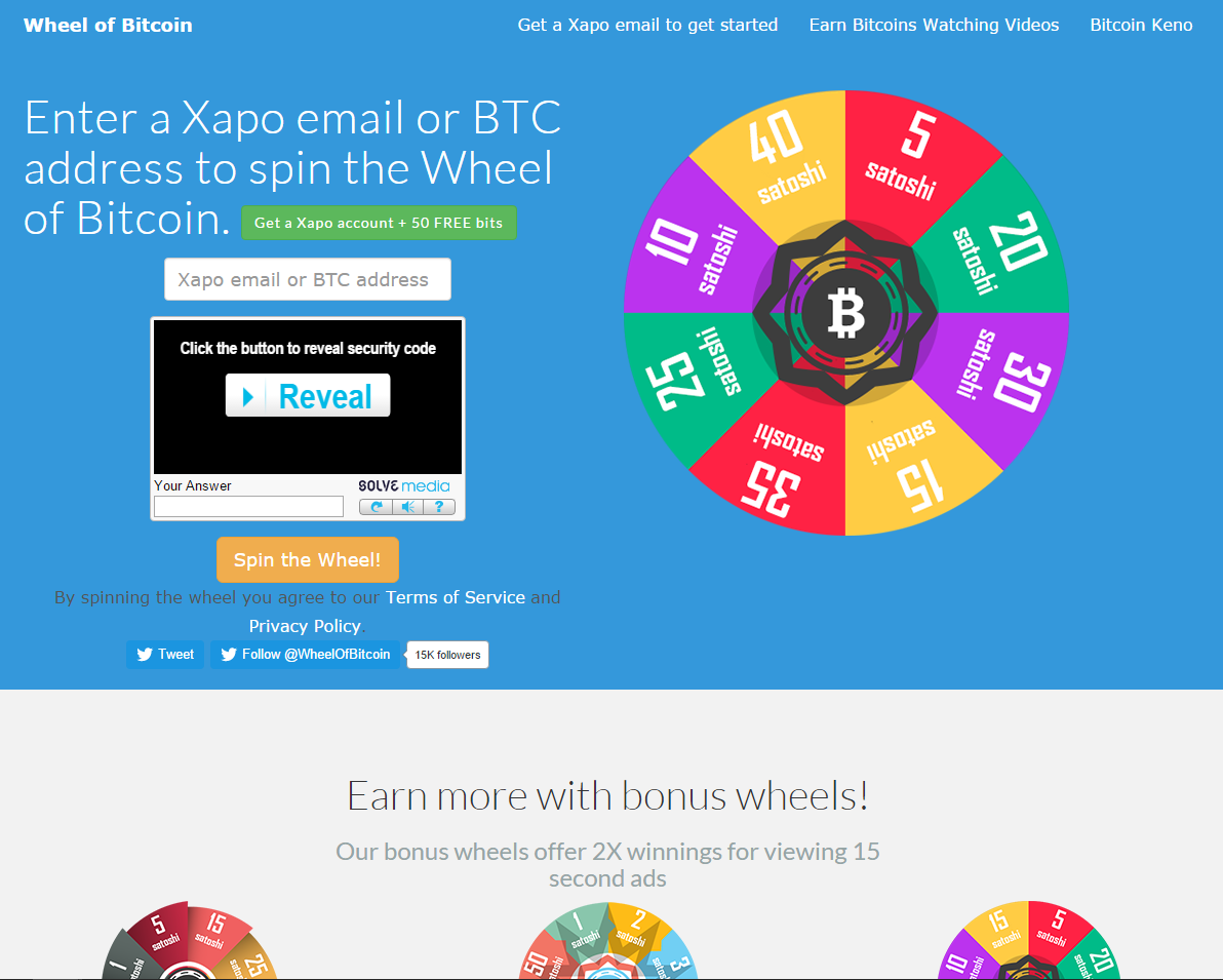 Wheel Of Bitcoin 22 Reviews Bitcoin Free Bitcoins Bittrust Org -