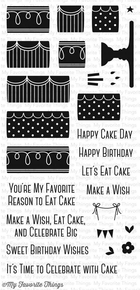 My Favorite Things   Clear Stamp   LJD Celebrate With Cake