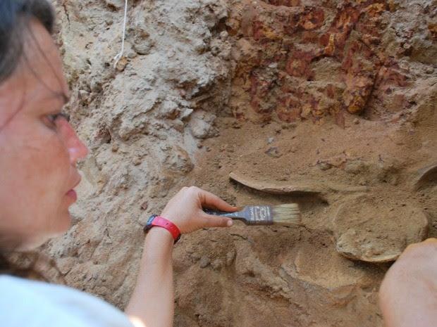Pesquisadores realizam escavações no sítio arqueológico do Jauari (Foto: Digulgação/Iphan-AM)