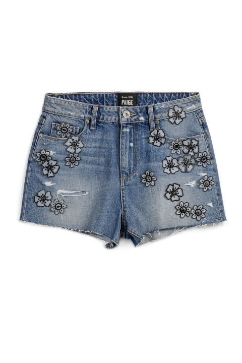 Denim cutoffs are a summer, and festival, mainstay. Refresh the look by picking a patched pair with some personality.Rosie HW x Paige Babes Short, $299; paige.com