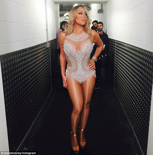 Mariah's World: Mariah Carey has confirmed she will star in a new E! series about her life - and the diva antics have already started (pictured on Monday in Glasgow, Scotland)