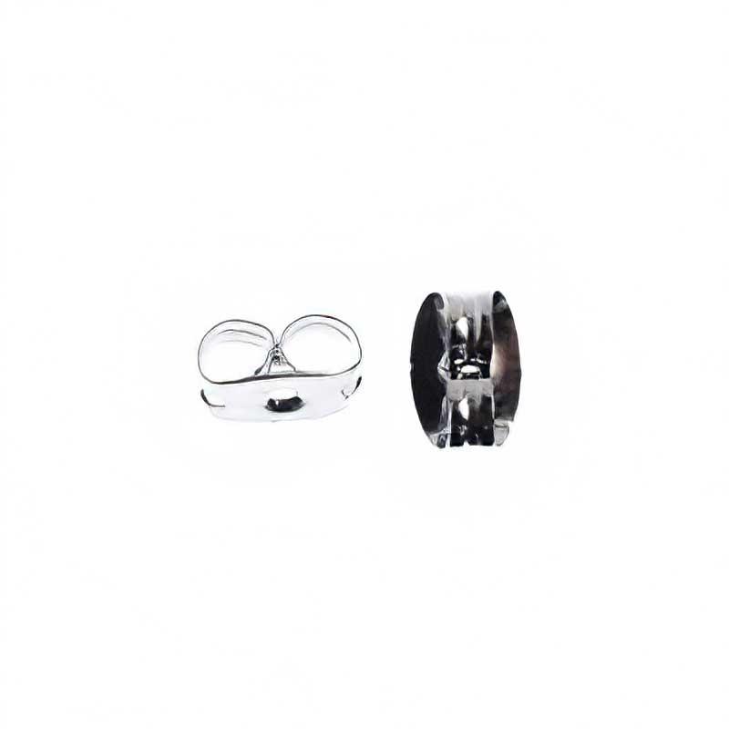 23610990-b100 Findings - Earring Backs -  Butterfly Clutch - Silvertone (100) (Bulk pack)