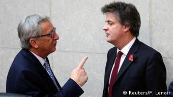 Juncker mit Hill erste Sitzung der neuen EU Kommission 05.11.2014 Brüssel