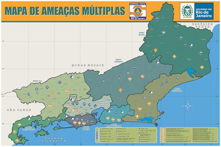 Defesa Civil RJ lança Mapa de Ameaças Múltiplas do Estado