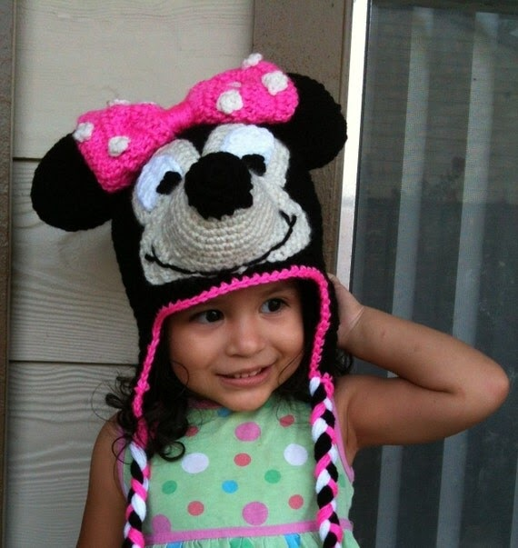 Best Patterns: Minnie Mouse Crochet Beanie Ear-flaps PDF ...