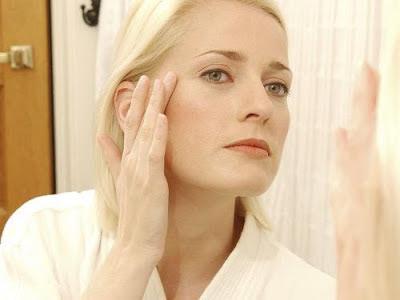 Woman Caring her skin