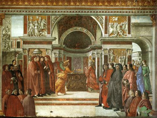 Angel Appearing to Zacharias - Domenico Ghirlandaio