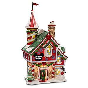 Light-Up ''Mickey's Christmas Castle'' Building by Dept. 56