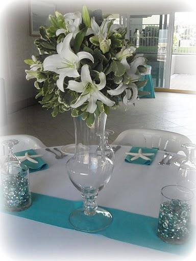 Turquoise White Wedding provided by ARTC Events New Smyrna Beach 32168