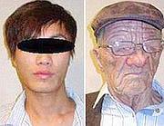 I due volti del ventenne arrestato