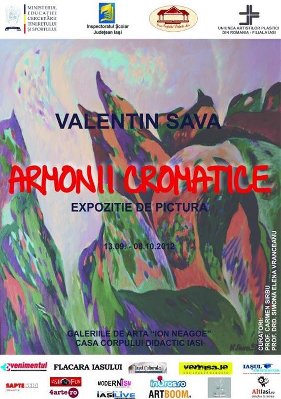 AFIS CCD VALENTIN SAVA Expozitia de pictura Armonii cromatice   Valentin Sava / Galeria de Arta Ion Neagoe, 13 septembrie   8 octombrie