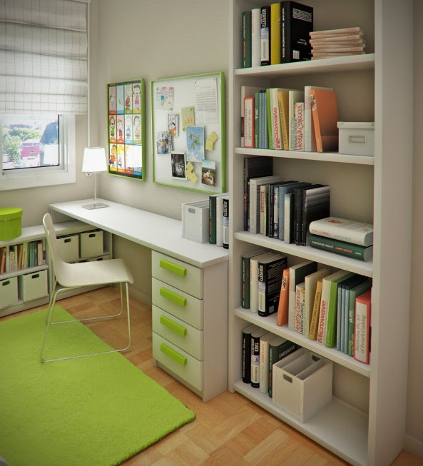 Home Office Design Ideas with Fresh Color green-home-offfice-room ...