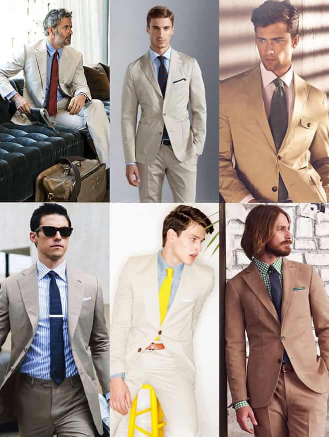 Khaki Suits With Pastel Shades Lookbook