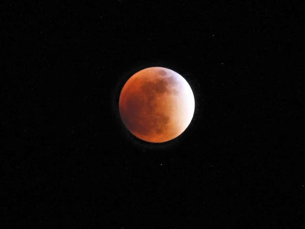 Leonardo Kawai, de São José dos Campos, também registrou o eclipse da Superlua (Foto: Arquivo Pessoal/ Leonardo Kawai)