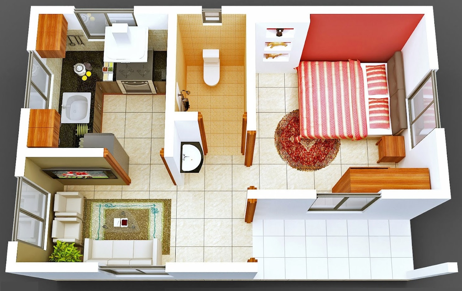 Most Popular 27 Small House Design 1 Bedroom