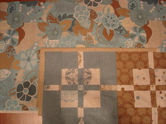Quilt top corner with border fabrics