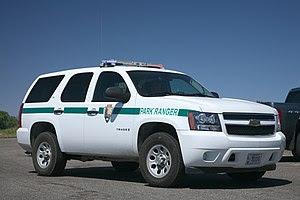National Park Service ranger vehicle in Mesa V...