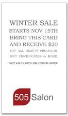 CPS-1084 - salon coupon card