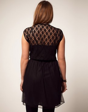 Image 2 ofASOS CURVE Exclusive Dress With Lace and Mesh