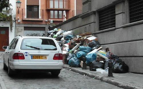 Huelga del servicio de recogida de basura