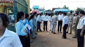 Scene view of Cambodia Students during Exam 2015 - photo courtesy of MoEYs facebooke page.