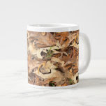 Abstract Nature Photograph Autumn Leaves Textured 20 Oz Large Ceramic Coffee Mug