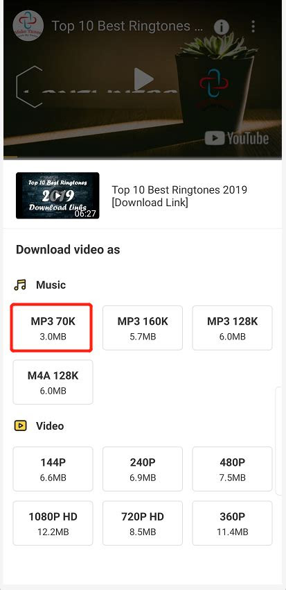 youtube video downloader p  android  ios