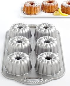 Nordic Ware Anniversary 6 Cavity Mini Bundt Pan - Cookware - Kitchen - Macy's $36