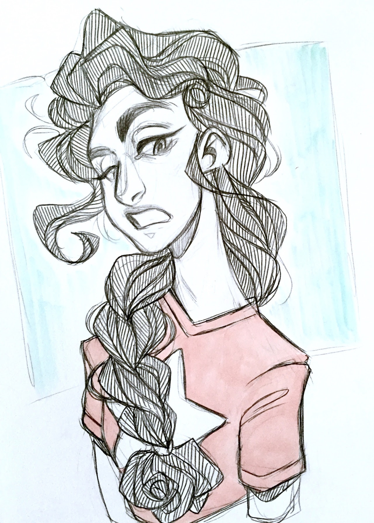Is it possible to braid Stevonnie's hair? Probably not Will I draw it anyway? Yes, yes I will