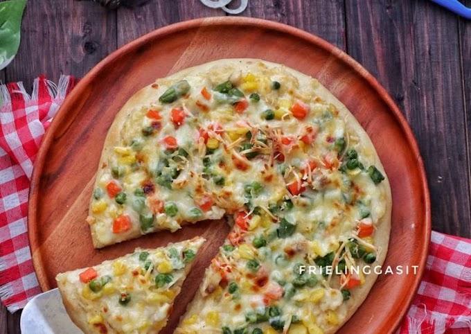 Resep Pizza topping Ragout Sayuran dan Ikan Nila Lezat