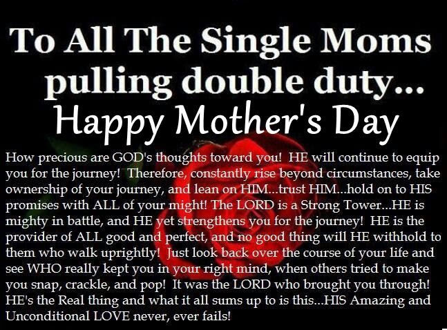 Religious Mothers Day Quote For Single Moms Pictures Photos And