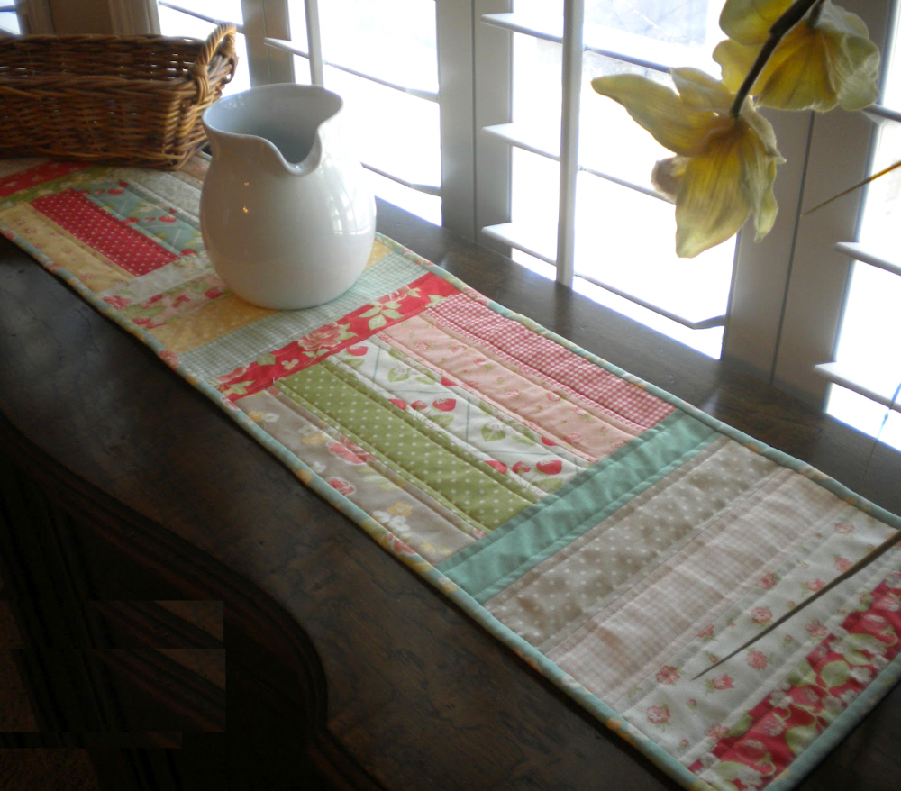 Sweet Spring Quilted Table Runner