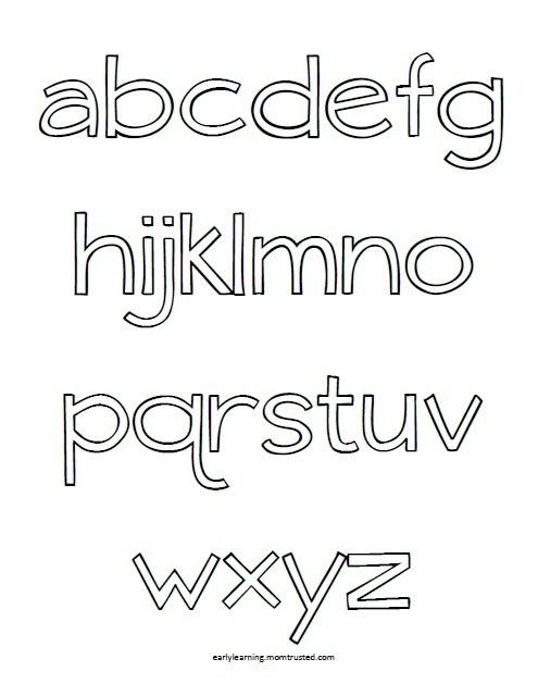 Alphabet Coloring Pages Az - Futpal.com