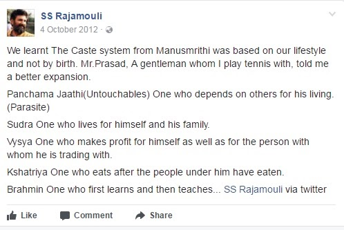 Rajamouli has tarnished Tamils and he has served Hindutva well