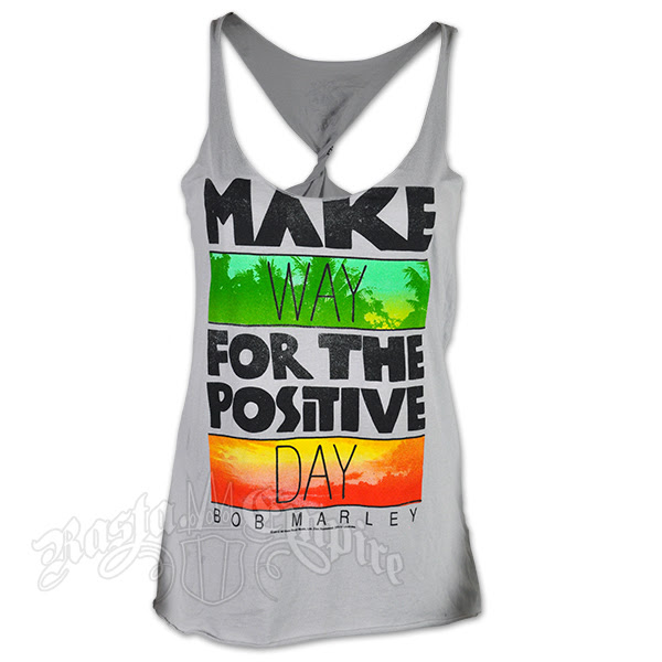 Bob Marley Make Way Silver Twist Tank Top Womens At Rastaempirecom