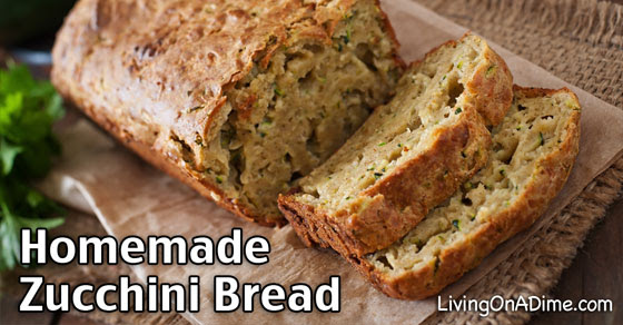 Homemade Zucchini Bread Recipe - Living on a Dime
