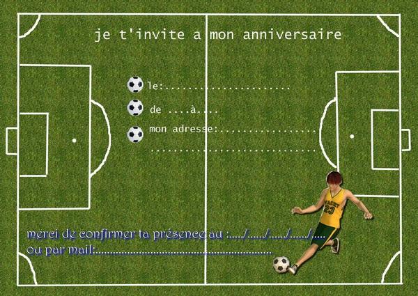 Carte D Invitation Anniversaire Gratuite Imprimer Foot   wizzyloremaria site