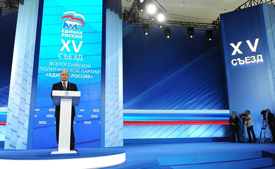 Atthe15th Congress oftheUnited Russia party.