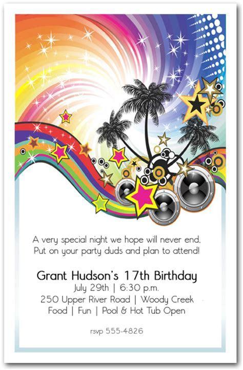 Summer Music Party Invitation, Teenage Birthday Party
