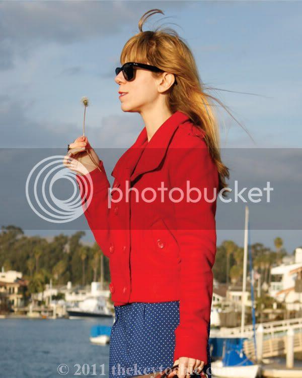 H&M polka dot shorts, Los Angeles fashion blog