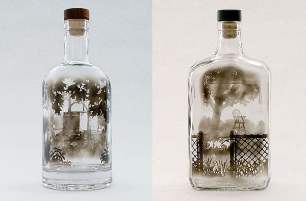 Drawings in a bottle