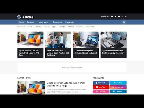 Template TechMag para Blogger de Tecnologia Responsivo