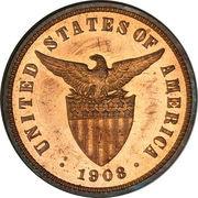 ½ Centavo (U.S. Administration) – obverse