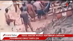 Video Amatir Evakuasi Korban Longsor PETI