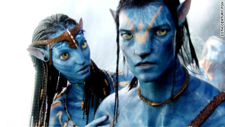 """""""Avatar,"""" a 2009 science fiction film written and directed by James Cameron, features animated blue creatures called the Na'vi."""