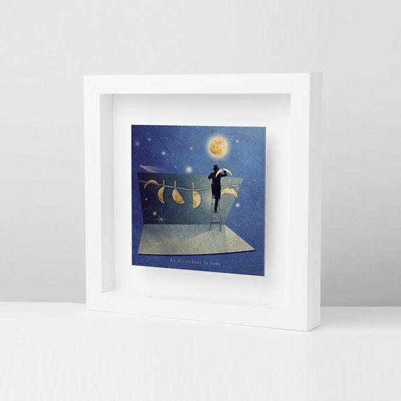 Moon, Astrology, Decor housewares, Wall decor, Frames, Modern Picture…