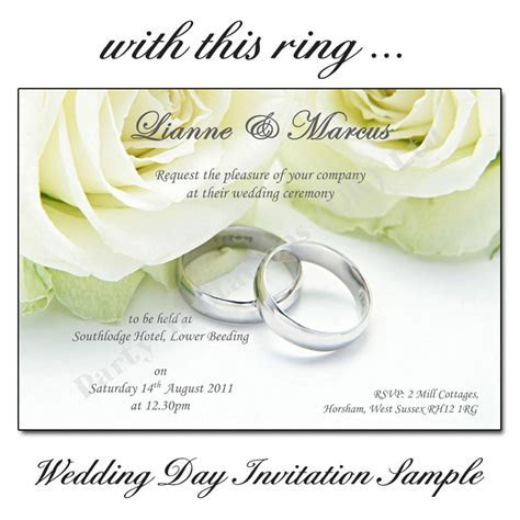 With this Ring Wedding Day Invitations