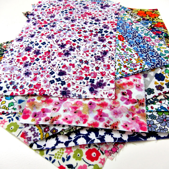 Only Ditzies Please! Mini Scrap Bag of Liberty Lawn (little prints only...)