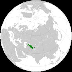 Vị trí của Uzbekistan